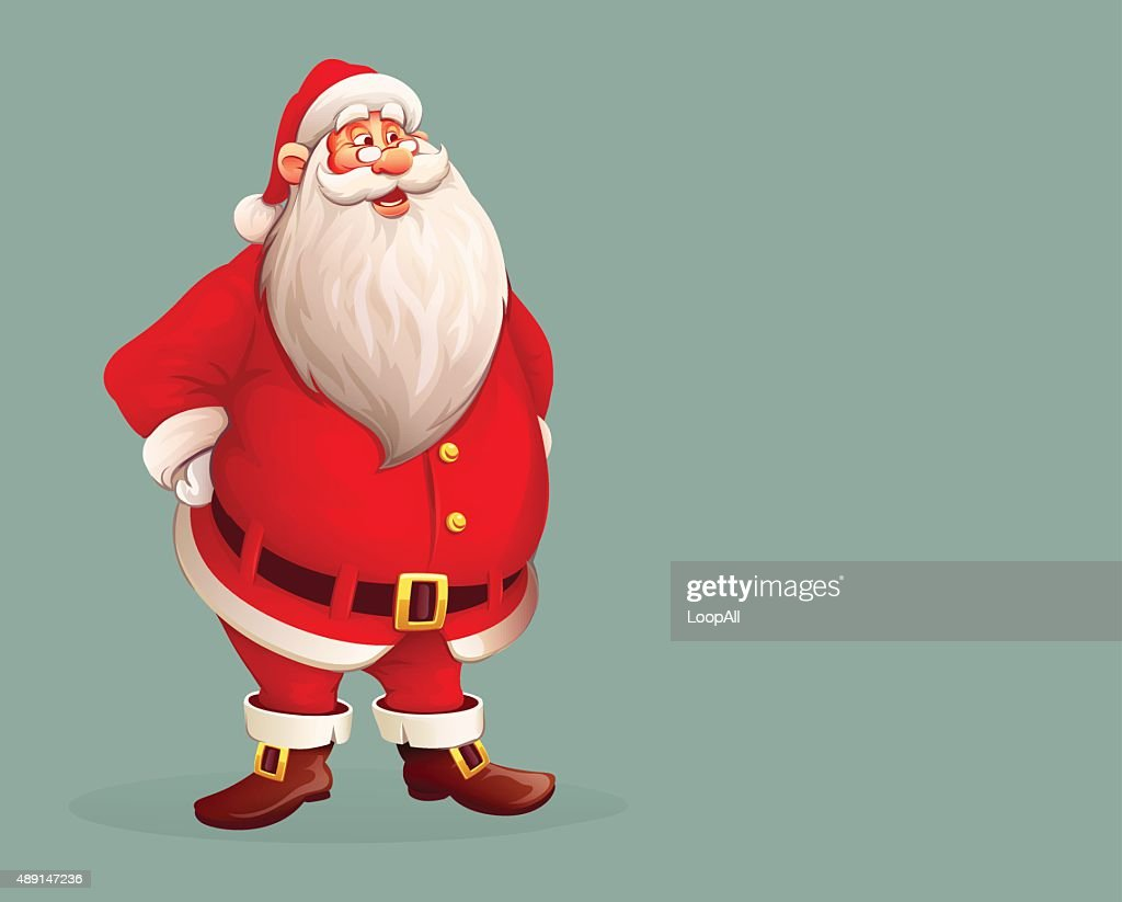 Smiling Santa Claus standing alone