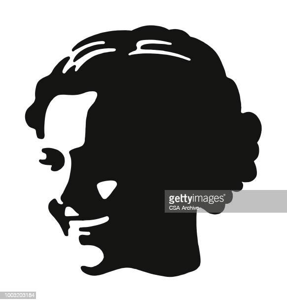 smiling woman - human face stock illustrations