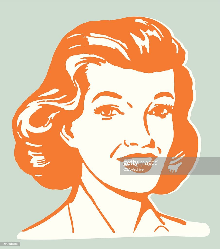 Smiling Woman : stock illustration