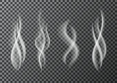 Smoke  from a cup of  hot coffee or tea.