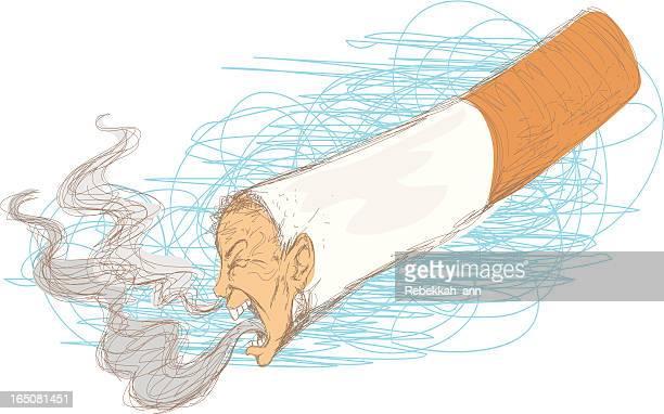 ilustrações de stock, clip art, desenhos animados e ícones de brincadeira de fumo - tossir