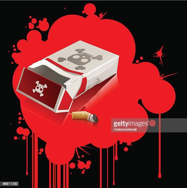 smoke kills (vector) - quitting smoking stock illustrations, clip art, cartoons, & icons