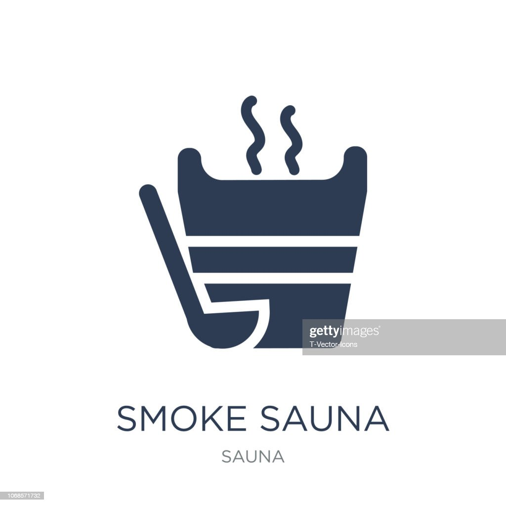 Smoke sauna icon. Trendy flat vector Smoke sauna icon on white background from sauna collection