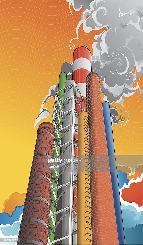 smoke stack : Vector Art