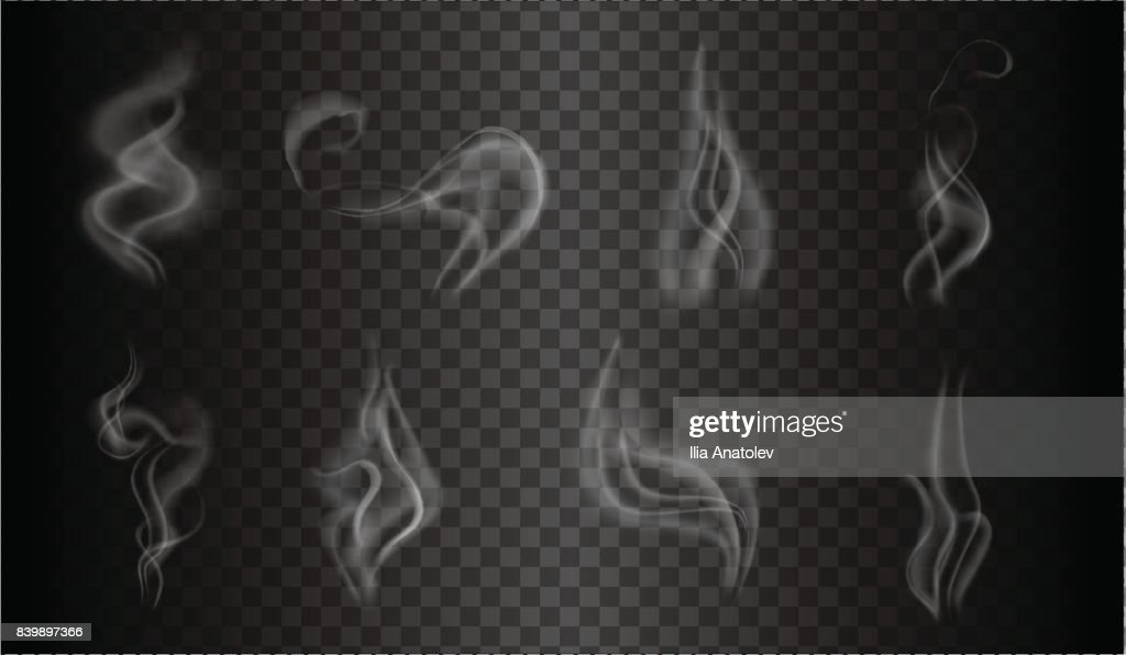 smoke template background isolated and transparent vector