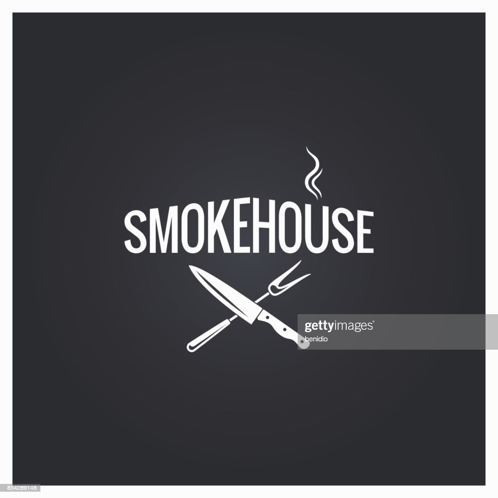 smokehouse cooking logo design background
