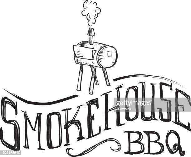 ilustraciones, imágenes clip art, dibujos animados e iconos de stock de lugar donde se ahuma con letras mano del texto de la etiqueta en blanco - smoke