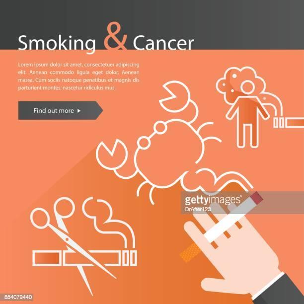 rauchen und krebs - cancer illness stock-grafiken, -clipart, -cartoons und -symbole