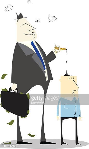 smoking business man - ash stock illustrations, clip art, cartoons, & icons