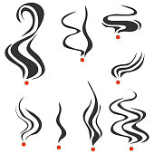 Smoking fumes line