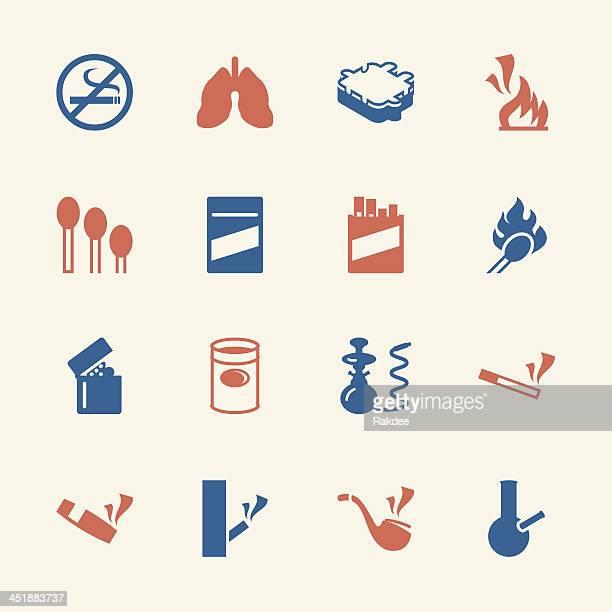 ilustraciones, imágenes clip art, dibujos animados e iconos de stock de iconos-color para fumadores-serie/eps10 - fumar marihuana
