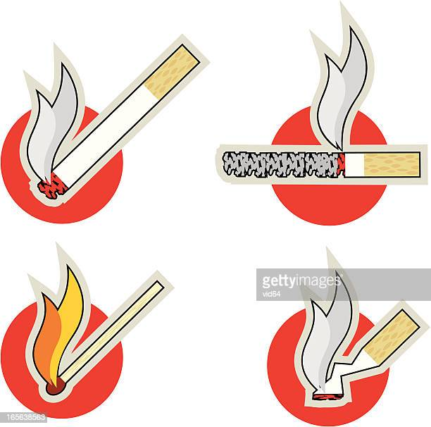 smoking icons - ash stock illustrations, clip art, cartoons, & icons