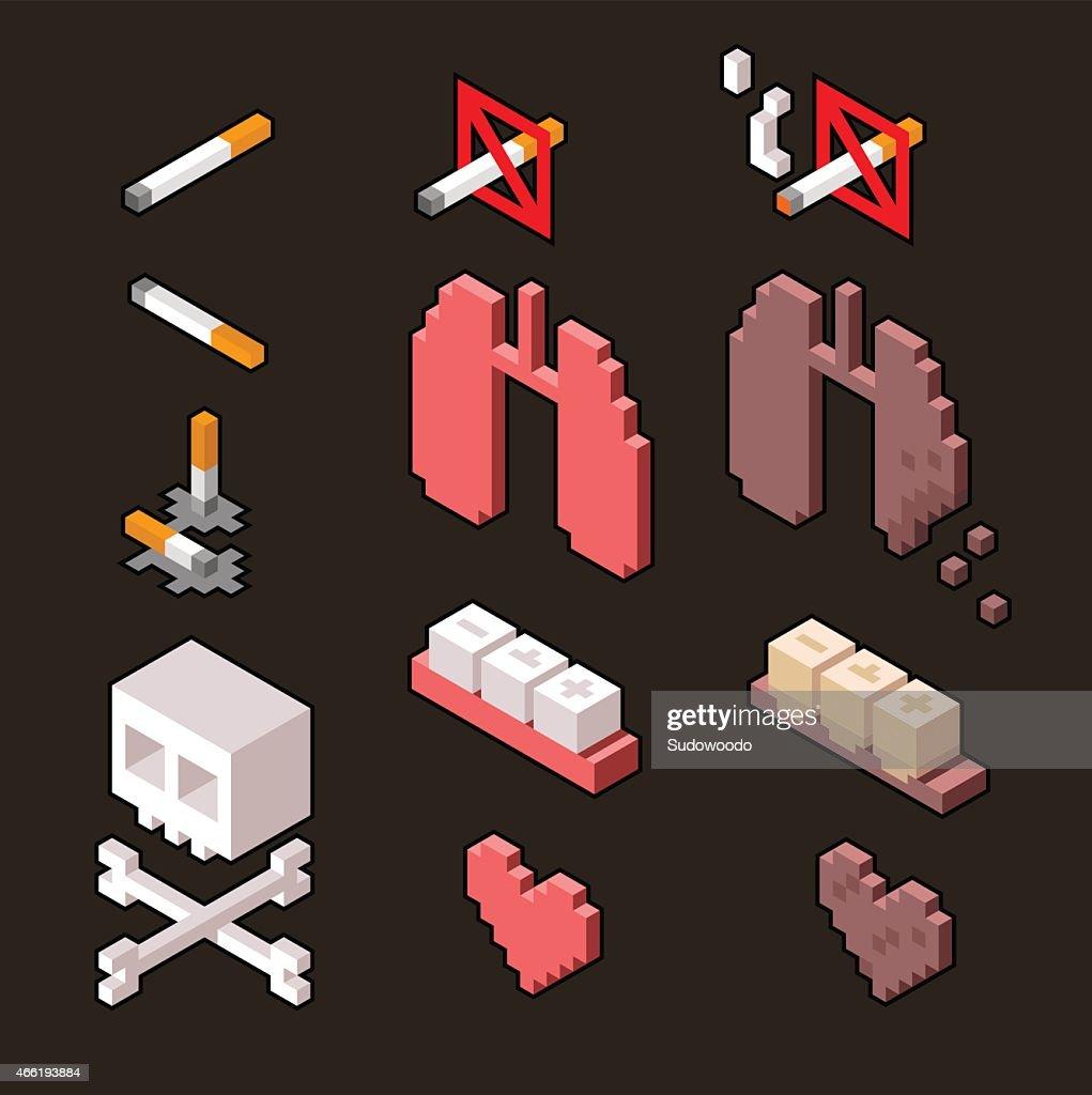 Smoking kills infographic elements