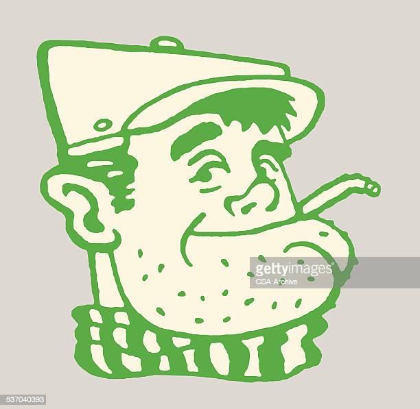 Smoking Man With Stubble