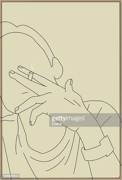 ilustraciones, imágenes clip art, dibujos animados e iconos de stock de para fumadores - fumar marihuana