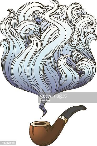 smoking - bong stock illustrations