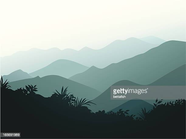smoky mountains - hill stock illustrations, clip art, cartoons, & icons