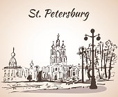 Smolny Cathedral in Saint-Petersburg, Russia