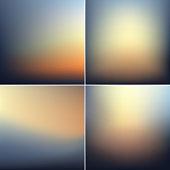 Smooth defocused blur backgrounds set