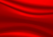 Smooth elegant red silk vector background, luxury cloth texture