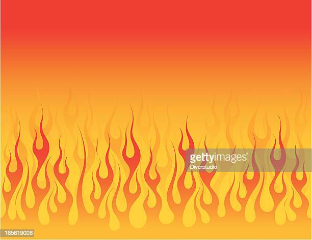 Smooth Flowing Flame Background