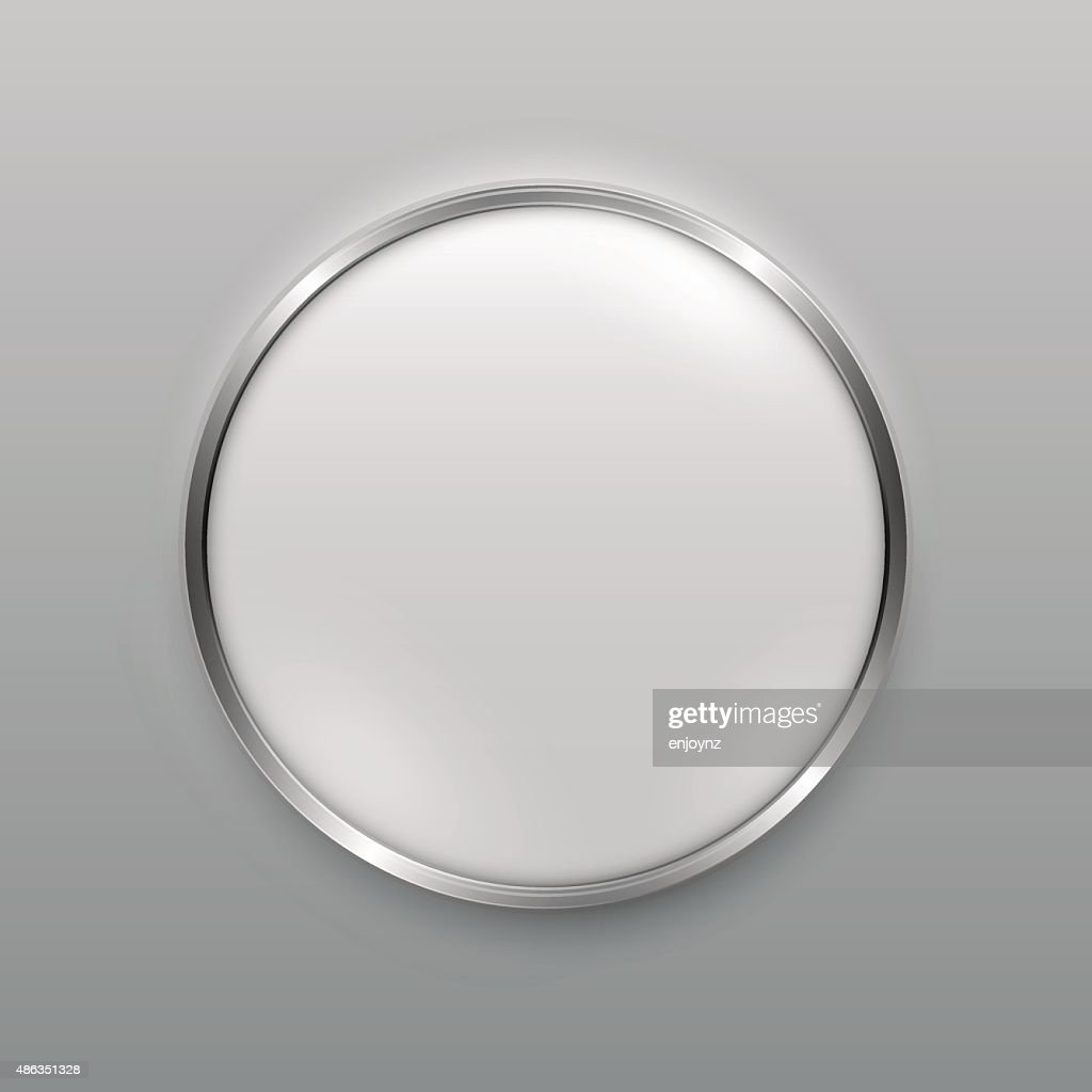 Smooth metal button