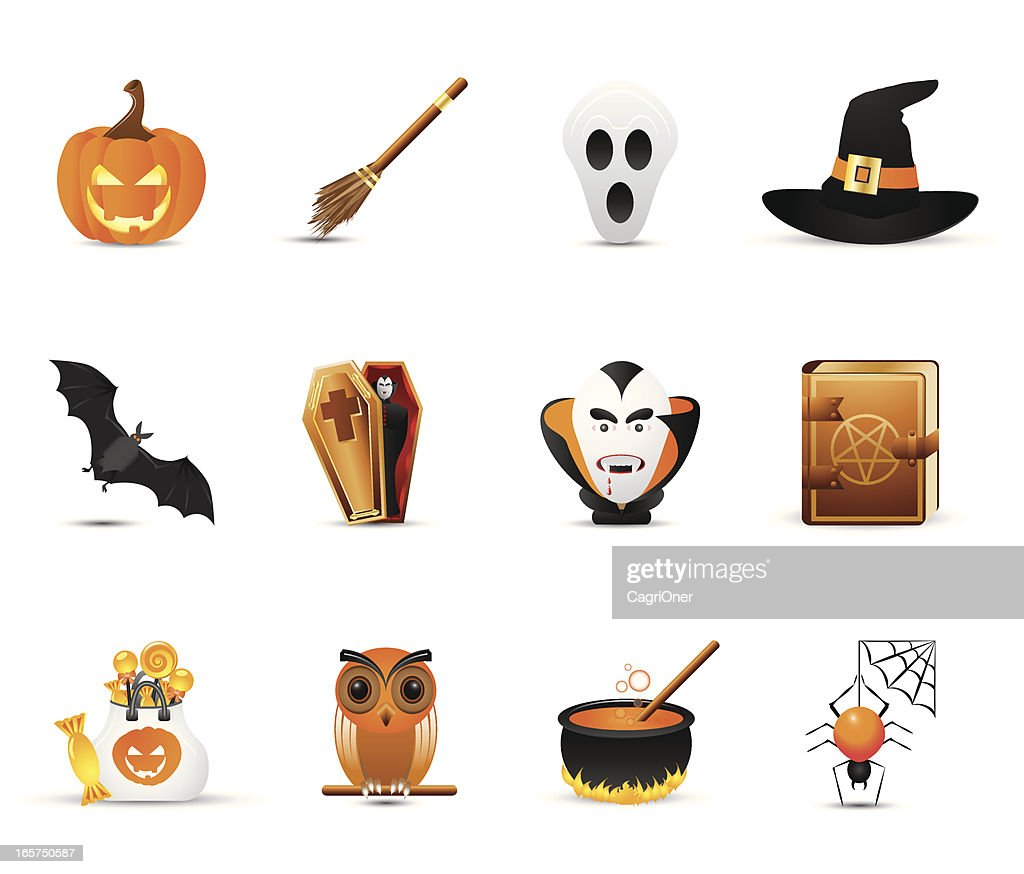 Smooth Silk Icon Set: Halloween