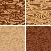 Smooth Stripes Coffee Textures - Seamless