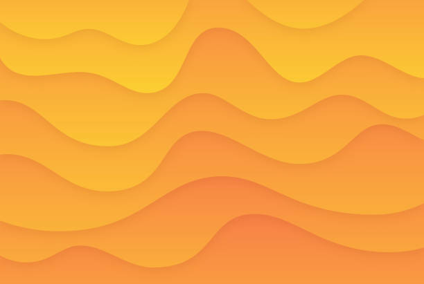smooth warm gradient abstract - melting stock illustrations