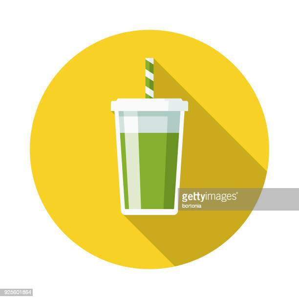 Smoothie Flat Design Naturopathy Icon with Side Shadow