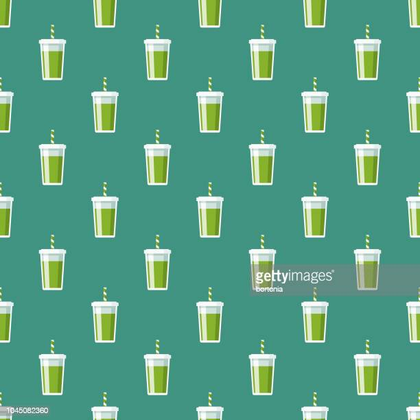 smoothie naturopathy seamless pattern - juice drink stock illustrations, clip art, cartoons, & icons