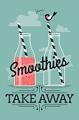 Smoothies take away cafe poster template
