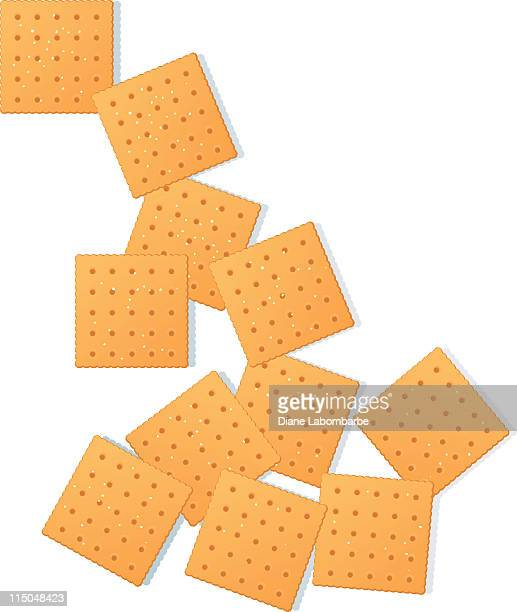 snack crackers - cracker snack stock illustrations, clip art, cartoons, & icons