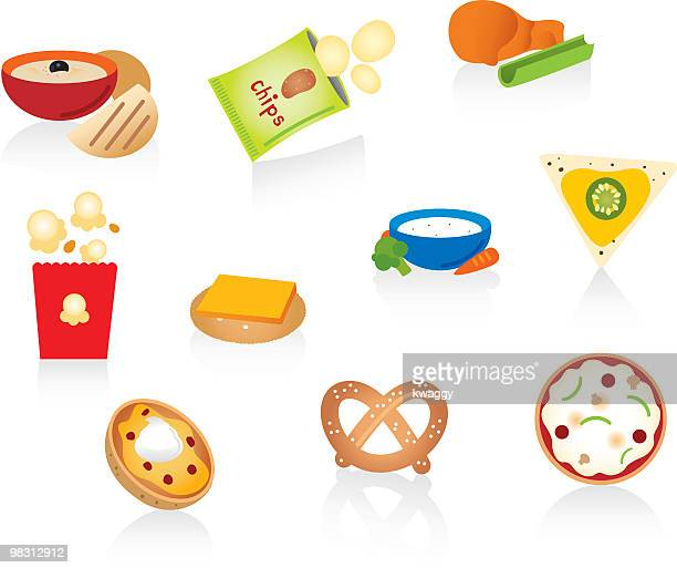 snack foods - dipping stock illustrations, clip art, cartoons, & icons