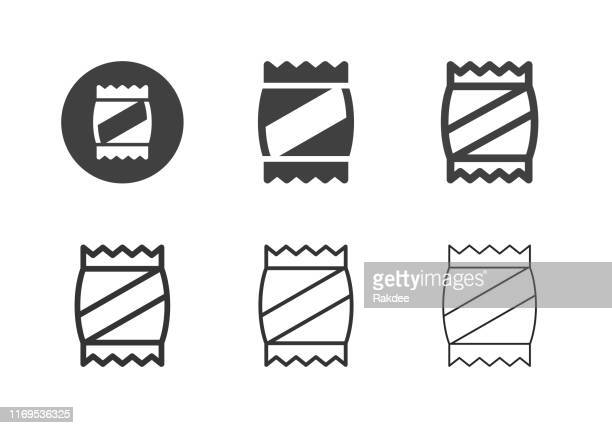 snack icons - multi series - chip shot stock illustrations
