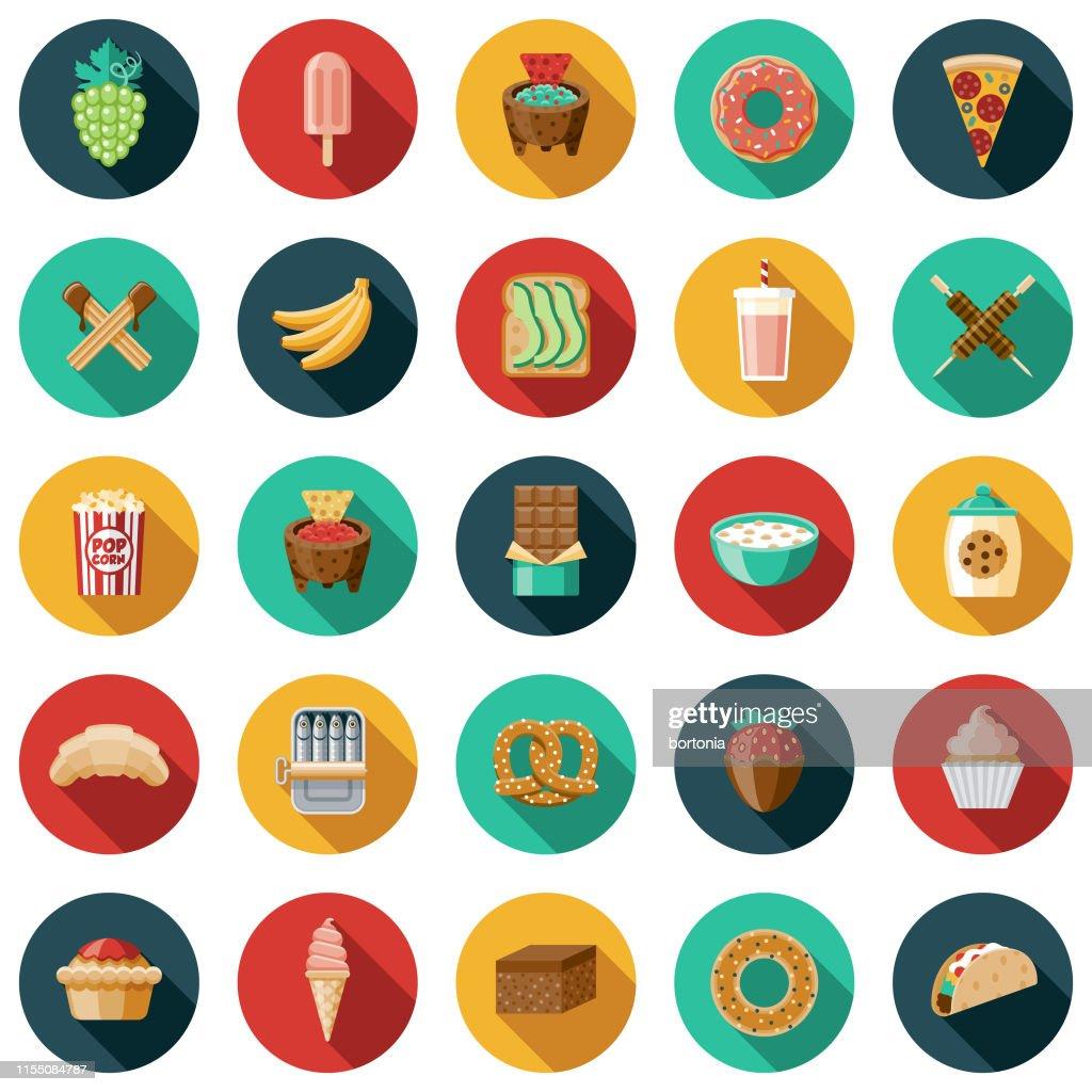 Snacks Icon Set : Stock Illustration