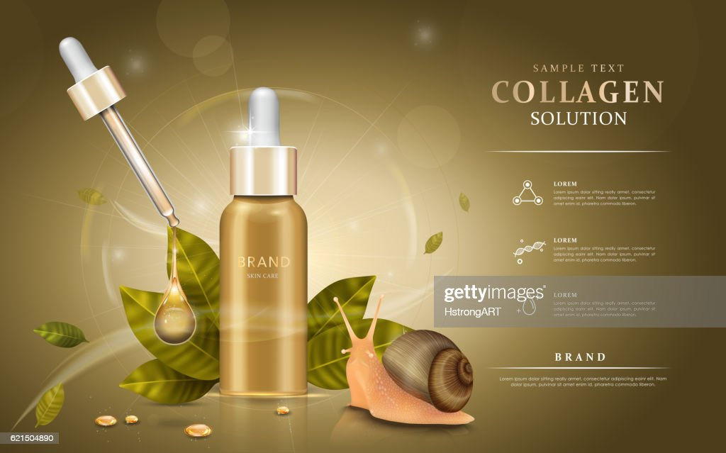 Snail extract cosmetic ads