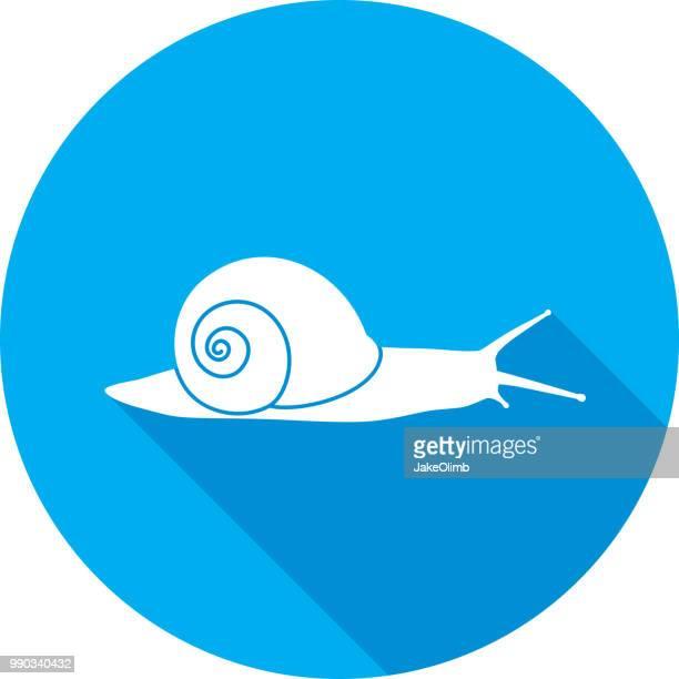 illustrations, cliparts, dessins animés et icônes de escargot icône silhouette - escargot