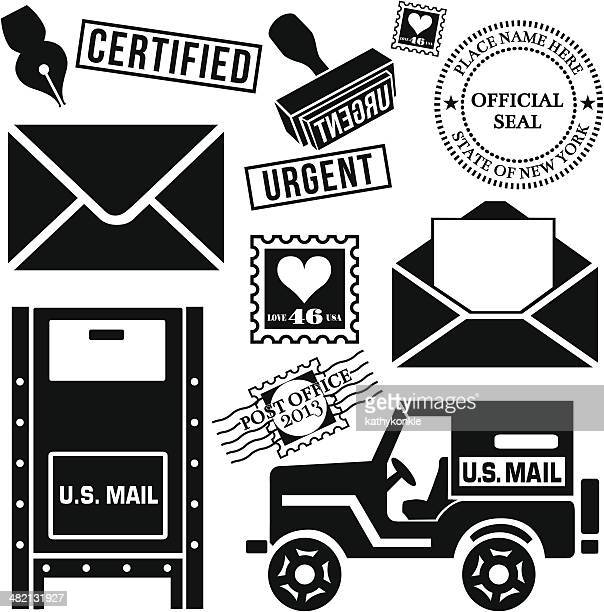 snail mail - post office stock illustrations, clip art, cartoons, & icons