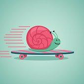 Snail on a board