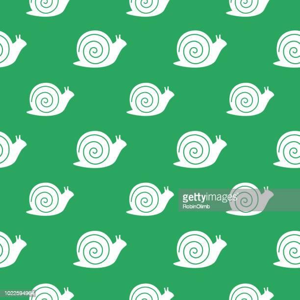 illustrations, cliparts, dessins animés et icônes de escargots seamless pattern - escargot