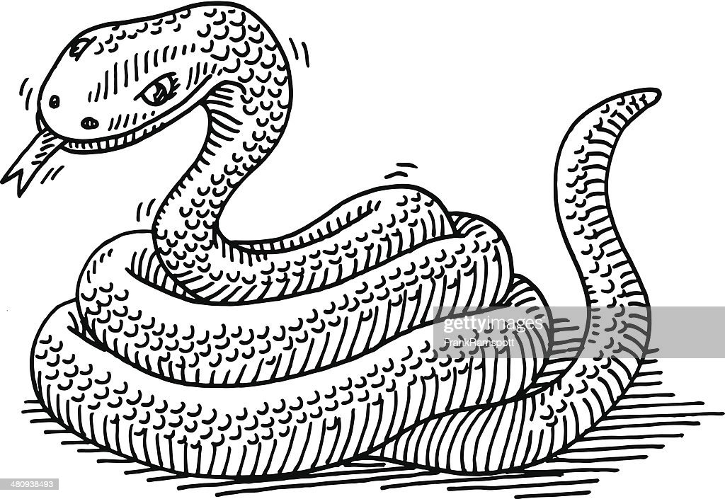 Serpent dessin d clipart vectoriel getty images - Dessin de serpent cobra ...