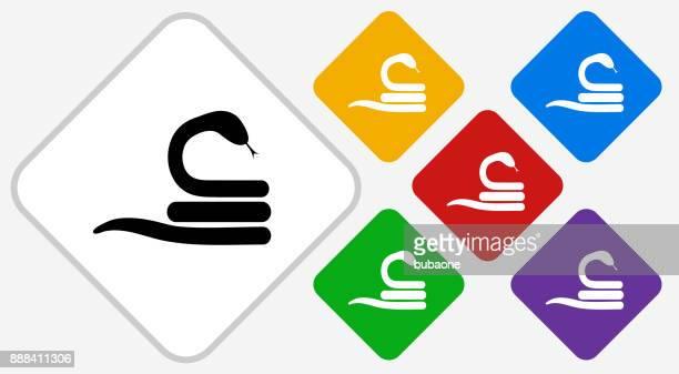 Snake Color Diamond Vector Icon