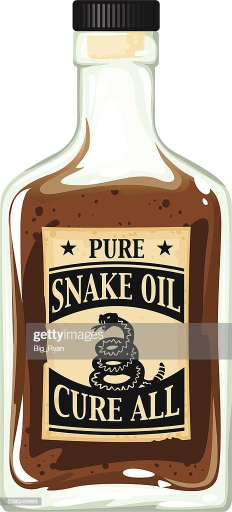 snake oil bottle : Vector Art