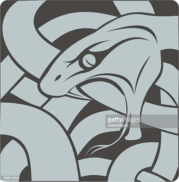 snake ornament - anaconda snake stock illustrations