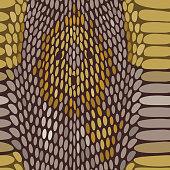 Snake python skin texture. Seamless pattern. Vector