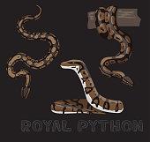 Snake Royal Python Cartoon Vector Illustration