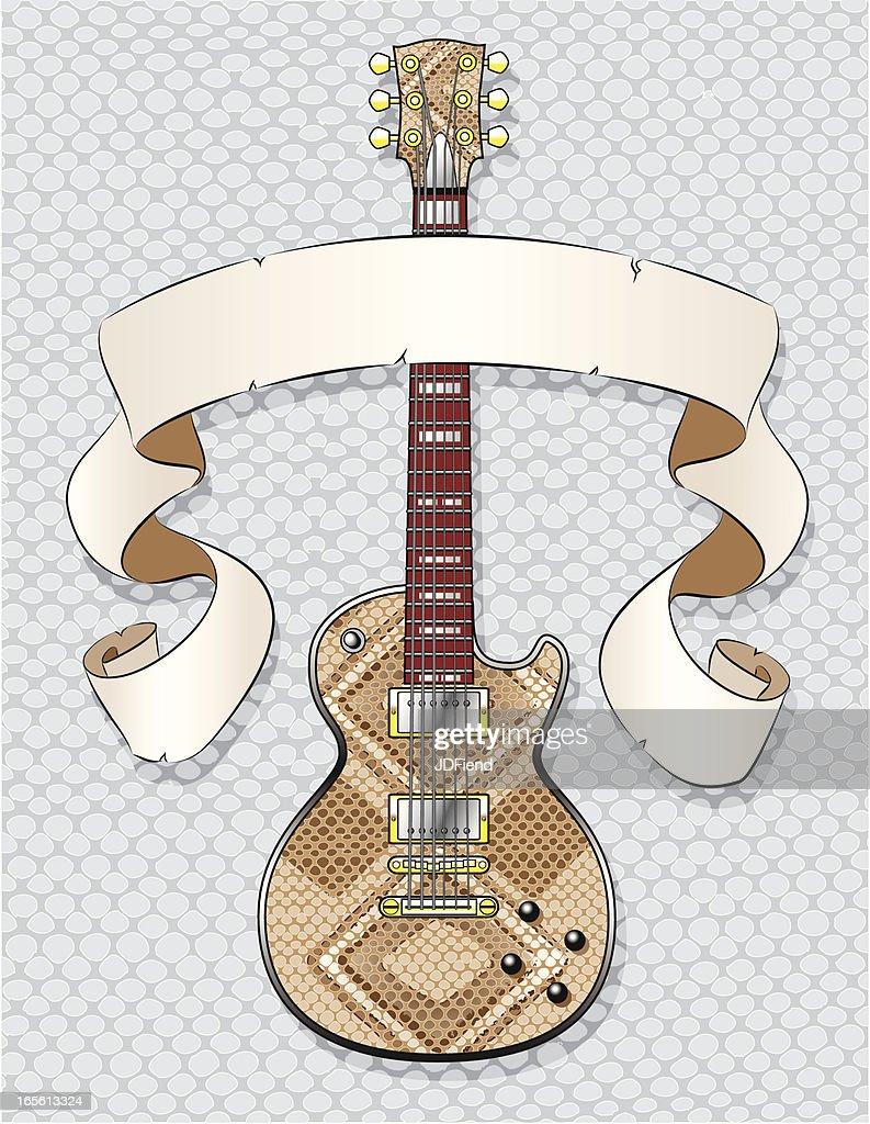 Snake Skin Guitar