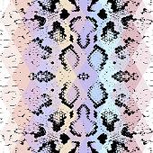 Snake skin texture Geometric background. Seamless pattern black purple blue