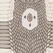 Snake skin texture. Seamless python skin pattern. Vector